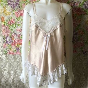 BETH MICHAELS VINTAGE CHAMPAGNE PINK CHEMISE 90s